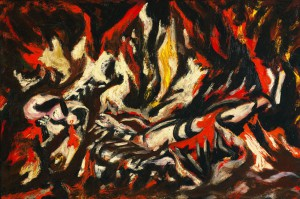 The Flame by Jackson Pollack, c. 1934-38. For more information, click here. © 2018 Pollock-Krasner Foundation / Artists Rights Society, New York)