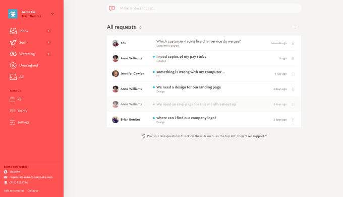 Spoke looks to create a simpler workplace requests management tool