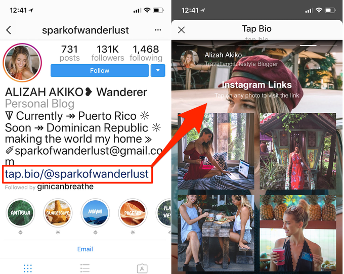 Tap Bio's mini-sites solve Instagram's profile link problem