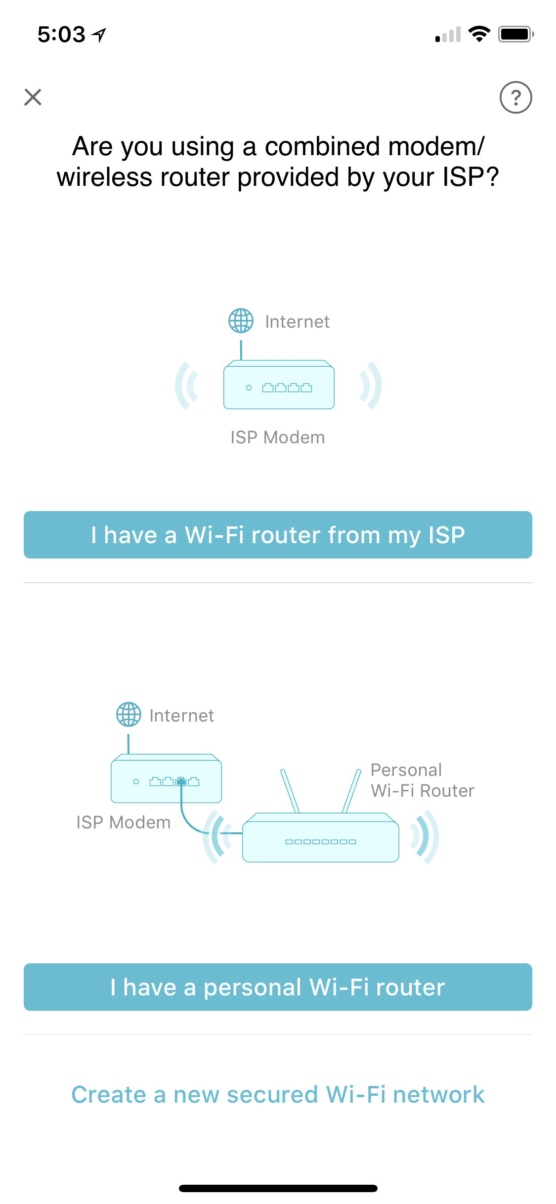 Whether or not you bring your own router, you don't have to set up all your Wi-Fi passwords again.