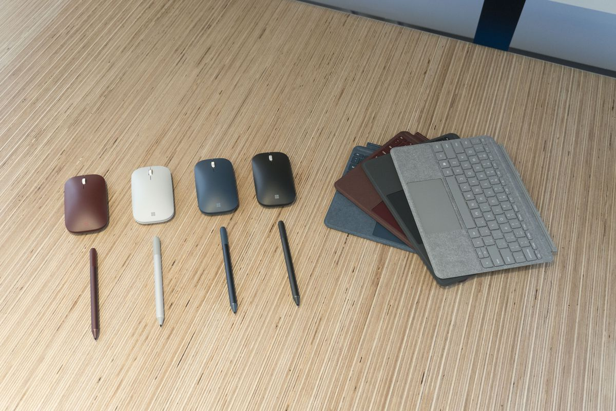 Microsoft's also got a $40 new wireless mouse and Touch Cover Keyboards in a number of colors.