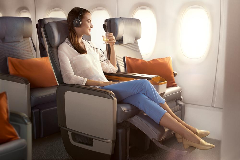 Premium economy on theAirbus A350-900 ULR.