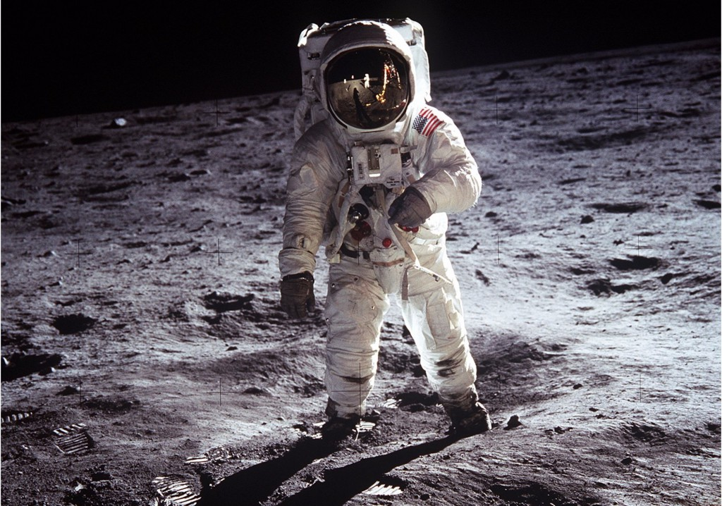 The iconic shot of Neil Armstrong on the Moon. (Credit: NASA)