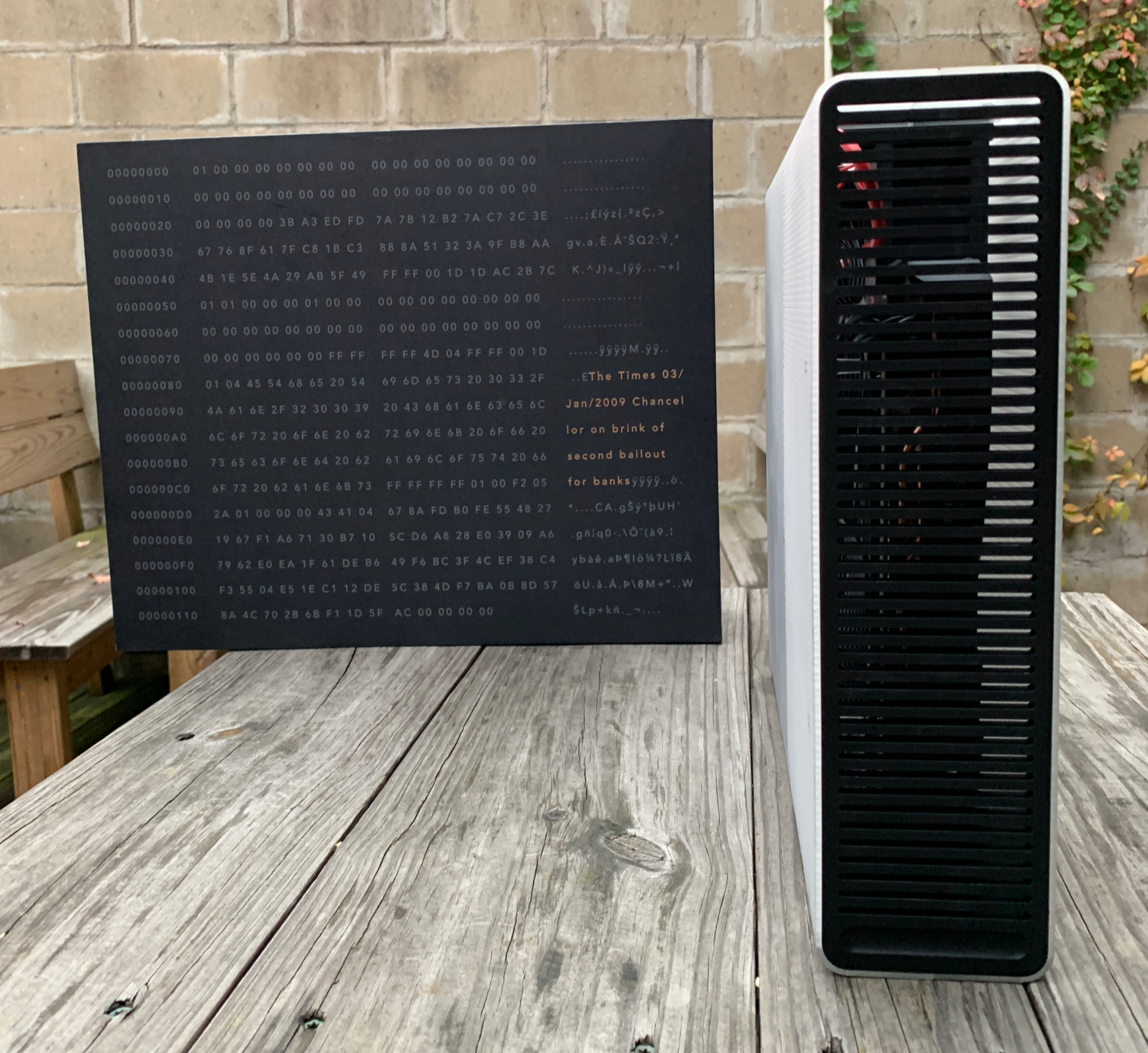 The Coinmine One is a box that mines crypto at home