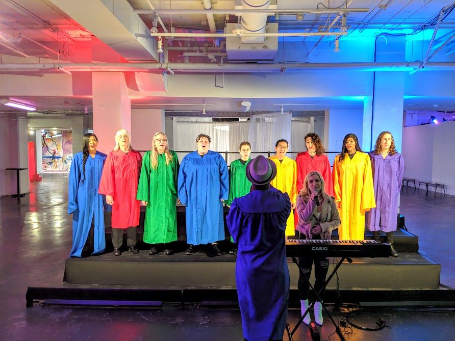 The Trans Chorus of Los Angeles performs at 29Rooms regularly.