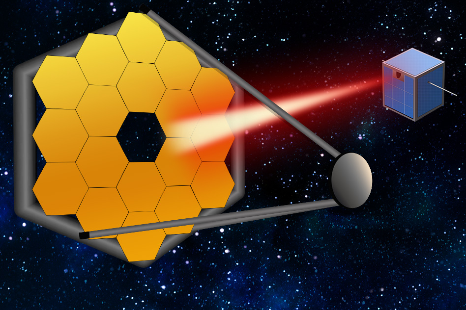 Swarms of tiny satellites could act like one giant space telescope
