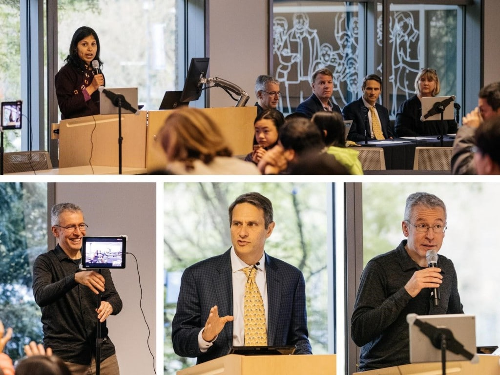 Kicking off the Megathon with Vani Mandava (Microsoft), Pietro Michelucci (Human Computation Institute), Chris Schaffer (Cornell University), John Kahan (Microsoft), Lori La Bey (Alzheimer's Speaks)