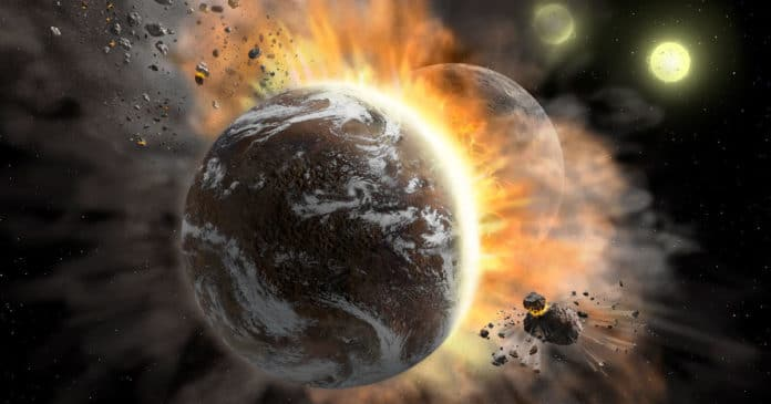 Two Exoplanets Collided, Leaving a Trail of Planetary Gore