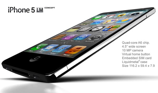 iPhone 5 - Liquid metal concept,iphone concept,iphone concept liquid metal